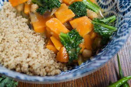 Vegan Sweet Potato and Kale Curry