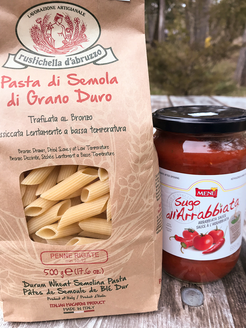 Camping Vegan Arrabbiata Penne Pasta dinner review