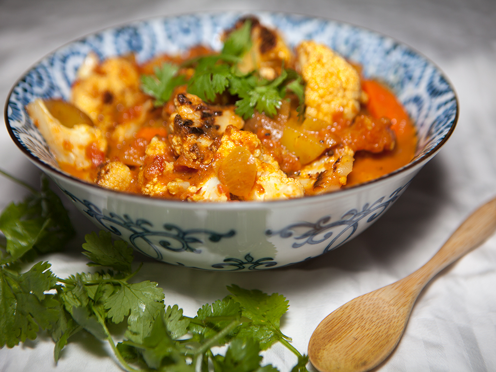 Vegan Roasted Cauliflower Curry