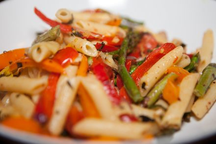 Vegan Oven Roasted Vegetables with Pasta