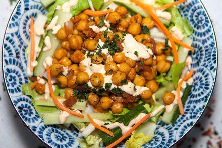 Vegan Maple Sriracha Chickpea Salad
