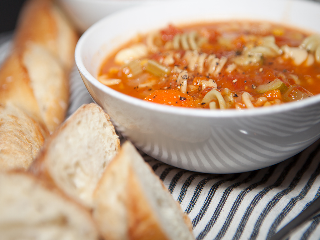 Vegan Noodle and Vegetable Soup